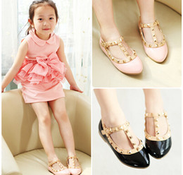 Wholesale Children Fashion Casual Princess Shoes Girl Leather Shoes Baby Shoes Girl Shoes Kids Shoes Pink Red Black S0707