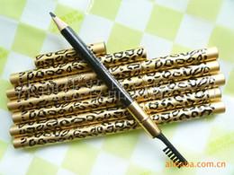 Wholesale Golden Leopard eyeliner pencil with a brush aluminum pole