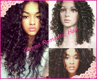 Wholesale Fashion Curly for Women Girls Glueless Full Lace Wig amp Front Lace Wig Brazilian Virgin Hair Bleached Knots