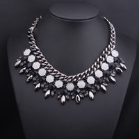 Chokers Women's Fashion 2014 High Quality Women Luxury Costume Fashion Chunky Necklaces & Pendants Chokers Gorgeous Statement Jewelry