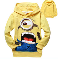 Wholesale Best selling Childrens Wear Hoodies Boys Girls Cartoon Despicable Me Printed Jacket Minions Child Outwear M0215