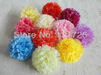 Wholesale 9 cm silk flower Carnation flowers Heads for Wedding Christmas Party Diy Jewlery Brooch Headwear decoration