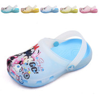 Wholesale EMS Free Children Cartoon Mini amp Miki Beach Slippers Soft Bottom Kids Boys Girls Cross Sandles Cute Carton Childs Shoes pairs H1040