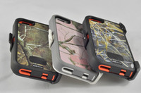 Wholesale shockproof in Defender Real Tree Realtree Camo Case For Iphone iphone s With Clip Retail Package