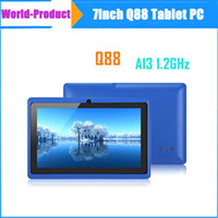 Wholesale 7inch ALLWINNER A13 q88 Andriod Tablet pc MB GB Capacitive Touch Screen GHZ M GB High Quality WIFI