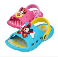 Unisex Summer Bow Fashion summer fashion cute girls cartoon mickey minnie mouse garden shoe for children sandals slippers girls boys slippers