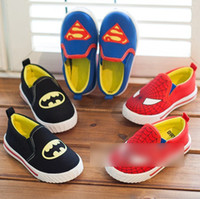 batman shoes for girls - 2014 Surpeman Spiderman Batman Canvas Children Girls Boys Girls Shoe Sneakers Baby Checker Shoes For Years Athletic Child Shoes J0606