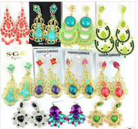 Wholesale freeshipping new arrival Bohemia restoring ancient ways personality big earring mixed pair fashion earring