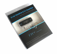 Wholesale Wireless mm In Car Handsfree Car Kit Music Radio MP3 FM Transmitter For iPod iPad iPhone S g Galaxy S2 S3 HTC with retail box