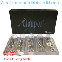 atomizer cloutank cloutank m2 coil head Cloutank Rebuildable Atomizer coil for Cloutank M2 M3 M4 series Dry Herb Wax Vaporizer herbal vaporizers pen electronic cigarettes vapor