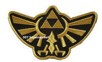 Wholesale 4 quot Legend of Zelda Hyrule s Royal Crest Gold Uniform TV Game punk rockabilly applique sew on iron on patch
