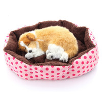 Wholesale 200pcs New dog bed cotton pet dog puppy cat soft fleece cozy warm bed for homeless pets house mat for pet EMS