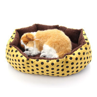 Wholesale New dog bed cotton pet dog puppy cat soft fleece cozy warm bed for homeless pets house mat for pet