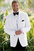 Reference Images Pinstripe Same as Image Custom Made High Quality White One Button Tuxedos Men's Wedding Suits Groomsman Suits(Pans +Jacket+Vest+Ties) Grooms Suits New Fashion 27