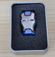 Wholesale 256GB GB GB CAPTAIN AMERICA USB Flash Drive Memory Stick With LED EYE customized logo printing on case packaging