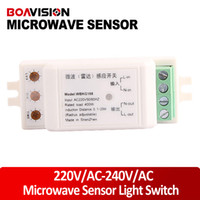 Wholesale High quality Auto adjustable V AC V AC Microwave Sensor Light Switch Auto Induction Microwave radar Motion Sensor degree induction