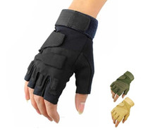 Wholesale Tactical Airsoft Adjustable Fingerless Gloves Outdoor Hunting Cycling Paintball D