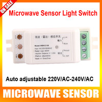 WBKG168 ac temperature switch - High quality Auto adjustable V AC V AC Microwave Sensor Light Switch Auto Induction Microwave radar Motion Sensor degree induction