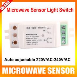 Wholesale High quality Auto adjustable V AC V AC Microwave Sensor Light Switch Auto Induction Microwave radar Motion Sensor degree induction