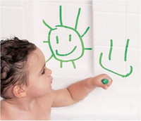 Baby bath pens - Baby Safety pen graffiti Happy Child Safety Bath Brush Baby Toy Boy Girl Safety Brush Off Food Color Wax Painting