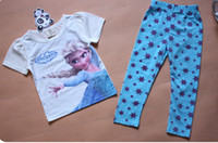 Cheap new Frozen Princess children's clothing sets,cut cartoon girls pajama sets,toddler baby kids pijama sleepwear suit