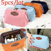 Wholesale 5pcs Cute Women s Lady Travel Makeup bag Cosmetic pouch Clutch Handbag Casual Purse SV002470