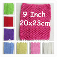 Hair Sticks Bamboo Braid Solid 6pcs lot 2014 Chic Cute colored Baby Girl 9 Inch Crocheted Tube Tops Kids Crochet Chest Wraps wholesale H018