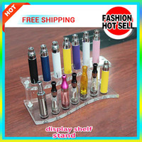 acrylic shelves - One sale E Cigarette Acrylic atomizer ego battery Display Stand exhibition shelves holder rack stand for ecig holder