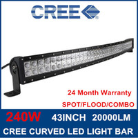 Wholesale 240W inch LM Super bright LED Cree Curved LED Work Light Bar Spot Flood beam off road light bar Truck x4 ATV Lamp