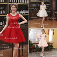 Cheap Under $50 2014 Short Mini A Line Lace Homecoming Dresses Party Prom Evening Gowns 2015 New Cheap In Stock Graduation Cocktail Dresses CPS042