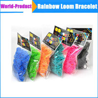 Link, Chain Silicone  Best Selling Rainbow Loom Kit DIY Wrist Bands rubber band Rainbow Loom Bracelet for kids (600 pcs bands + 24 pcs C-clips ) 13 Colors 002368