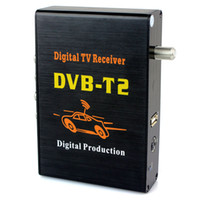 Receivers DMB-TH  Newest Mobile Digital Car DVB-T2 H.264 MPEG4 HD 1080P External Auto Tuner 100Km h Digital TV Receiver Box Set Top DVB-T2 Black D5183A