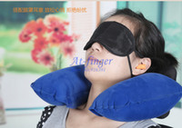 Wholesale The most cost effective Tourism Travel stuff eyeshade inflatable pillow noise canceling earbuds Neck Pillow A0001