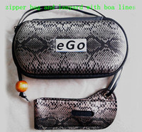 Wholesale Electronic Cigarette EGO Case EGO Bag Zipper Bag With Lanyard For ego T ego C ego VV EVOD E Liquid Bottle Electronic Cigarette Carry Bag