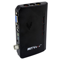 Wholesale Brand New Mini LCD TV Box Digital Computer VGA TV Programs Tuner Receiver Dongle Monitor Fashion Design Black D5184A