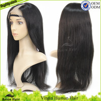 100% Unprocessed Brazilian Straight U Part Wig Brazilian Vir...
