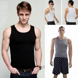 Wholesale New Men Cotton Tank Tops Sports Vest Men s Bodycon Sleeveless T Shirt Colors Choose EET
