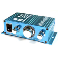 Wholesale 20Wx2 Mini Power Amplifier Digital Audio Sound AMP F Car Boat STOCK SHIPPING TL A6