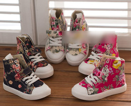 Wholesale Girls Baby Camouflag Canvas Sneaker port Shoes Children s Girl Sneakers Fashion Infant Toddler Casual Shoes High Shoes Size J0613