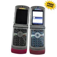 Wholesale HOT SELL V3 Quadband Refurbished Original Razr AT amp T T Mobile Unlocked Cell Phone Hot sale via DHL free