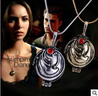 Wholesale Vampire Diaries Elena Nina Necklace Ancient Gold Silver Color Mix B5