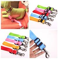 Wholesale 2014 new Adjustable Nylon Pet Dog Safety Car Seat Belt Harness Lead Clip dog Vehicle Travel leads rope