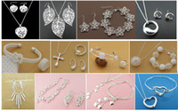 Wholesale with tracking number BestMost Hot sell Women s Delicate Gift Jewelry Silver Plated Mix Jewelry Set Set