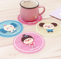 Wholesale 30pcs new cartoon silicone coaster and insulation pads placemat Christmas gift