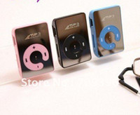 Wholesale G GOOOD SELL Mini Clip Mp3 Player Mirror Mp3 can support top GB Micro sd TF card