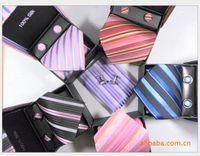 145 clip tie clip - 100 silk Men s formal wear tie business tie suit tie cufflinks handkerchief four sets hand made