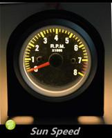 Wholesale SUN SPEED quot mm Rev Tacho Gauge Tachometer RPM Carbo Fiber Face