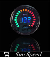 Wholesale SUN SPEED New Black inch mm Car Motor Digital LED Tachometer Gauge RPM Auto Gauge
