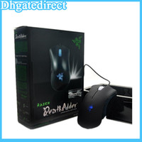 Wholesale Free DHL Brand new Retai Razer deathadder Mouse with Boxed DPI Competitive games mouse
