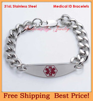 Link, Chain medical id - l stainless steel medical id bracelets medical jewelry fashion medical bracelets B2